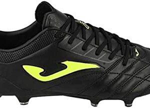 Joma – Zapatillas de futbol para hombre, talla 10 Pro 911, color negro y amarillo