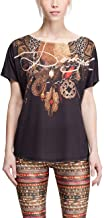 Desigual Mujer Knitted Short Sleeve–Camiseta TS L T de S G